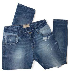 EUC✨ ZARA Womens Premium Denim Distressed Jeans
